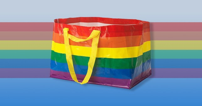 Ikea's new rainbow KVANTING shopping bag will be available throughout June, with profits going to charity