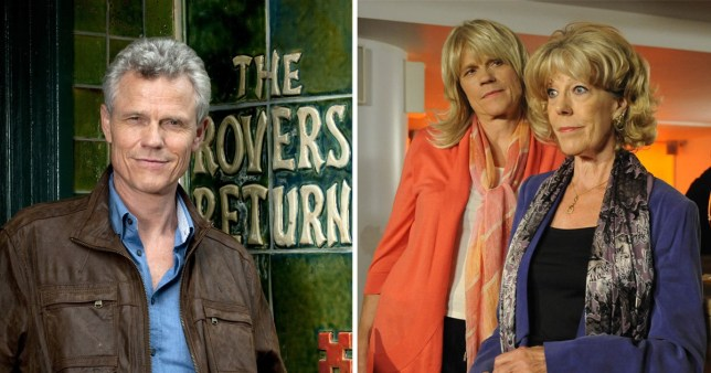 Actor Andrew Hall as Marc Selby, with Sue Nicholls as Audrey Roberts