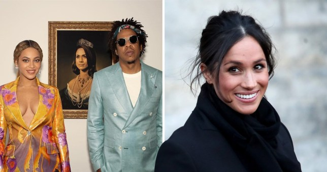 Meghan Markle apparently couldn't believe it when Beyoncé and Jay Z paid tribute to her (Picture: Getty/Instagram)