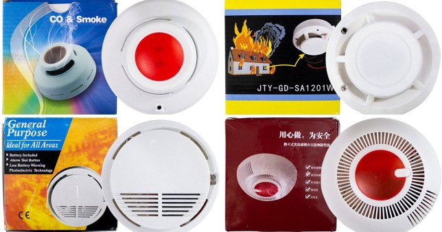 Four smoke alarms sold on eBay and Wish which were found to be faulty by consumer watchdog Which?