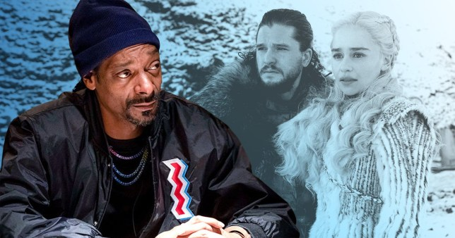 Snoop Dogg and Game Of Thrones characters Jon Snow and Daenerys
