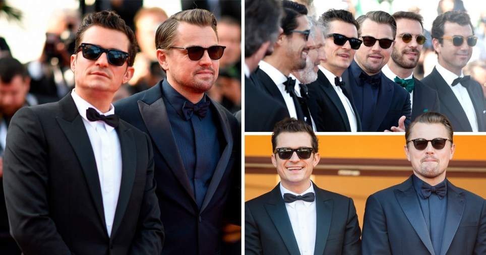 Orlando Bloom and Leonardo DiCaprio at the Cannes premiere for And We Go Green