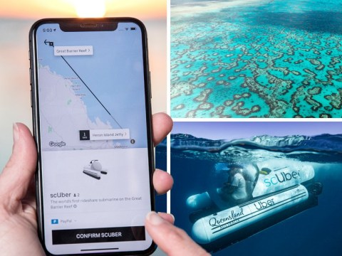 You can now book an Uber submarine to explore the Great Barrier Reef