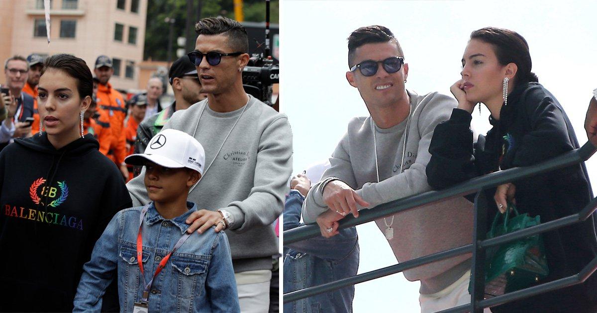 Cristiano Ronaldo's swaps football for Formula 1 as he enjoys weekend in Monaco