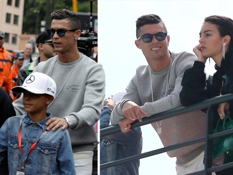 Cristiano Ronaldo's swaps football for Formula 1 as he enjoys weekend in Monaco