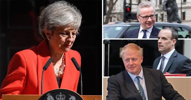 Theresa May resigns. Boris Johnson, Dominic Raab and Michael Gove could be next up