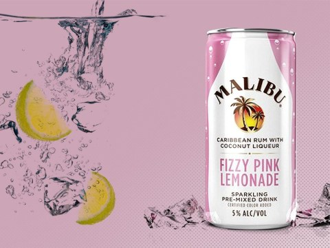 Malibu launches Fizzy Pink Lemonade in a can made with Caribbean rum and coconut liqueur