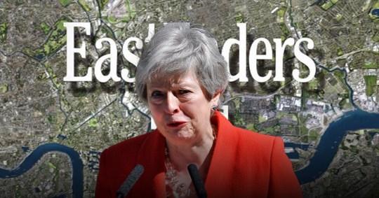 Theresa May EastEnders