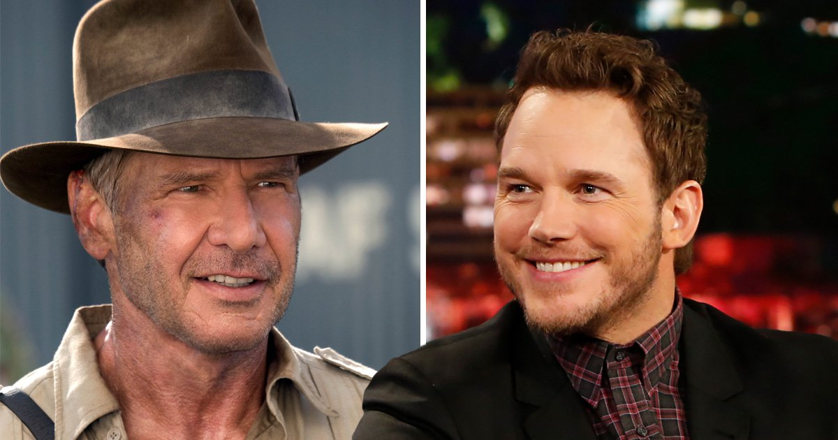Harrison Ford so isn't here for rumours Chris Pratt could be the new Indiana Jones