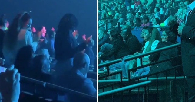 Beyonce and Kelly Rowland dancing at Janet Jackson's concert in Las Vegas