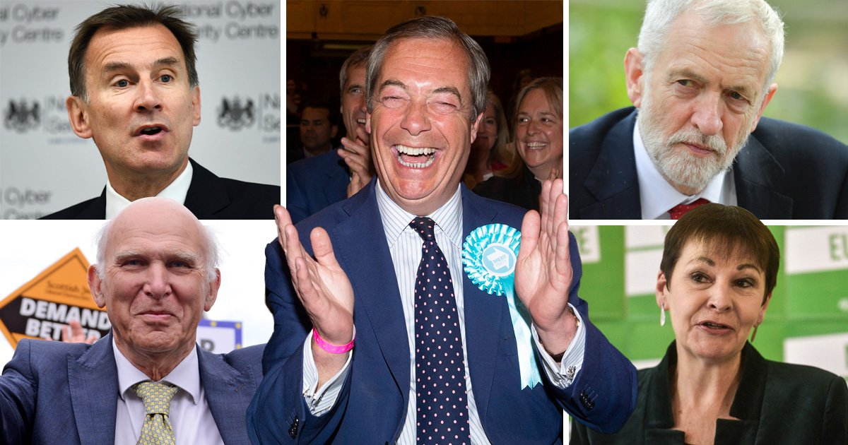 How MPs reacted as Brexit Party romped to victory in European elections