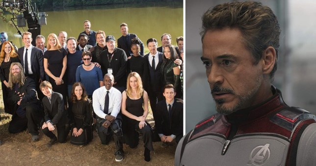 Robert Downey Jr is not in the Avengers Endgame family picture