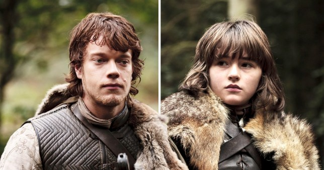 Theon Greyjoy and Bran Stark in Game of Thrones season 1