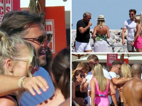 Mark Wright parties with friends in Spain while wife Michelle Keegan continues filming Our Girl