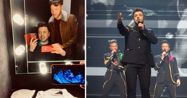 Westlife's Mark is going to be a dad this year (Picture: Twitter/ Getty)