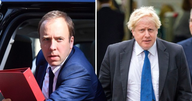 Matt Hancock, Boris Johnson