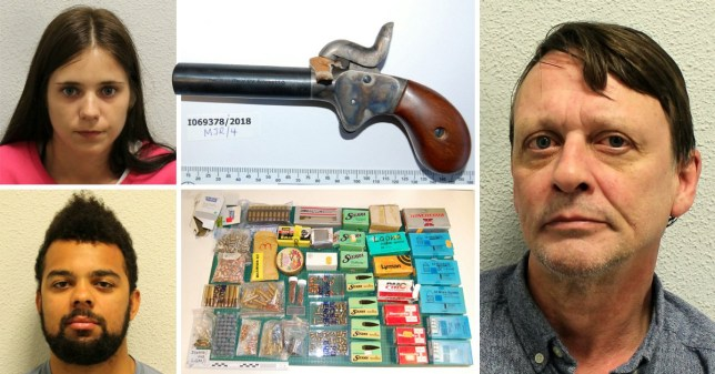 A gang led by a former German soldier who smuggled thousands of rounds of ammunition into Britain has been jailed for more than 77 years