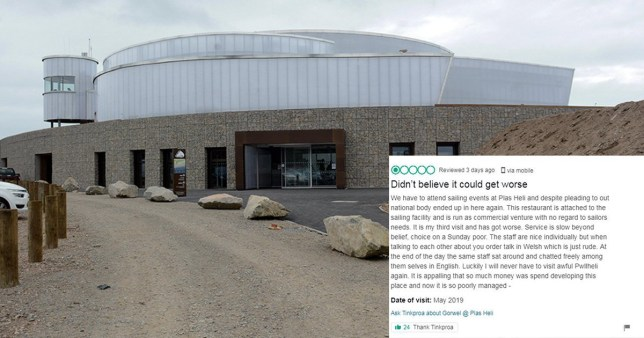 A customer has got annoyed at Welsh people speaking Welsh in Wales (Pictures: Daily Post Wales/ TripAdvisor)