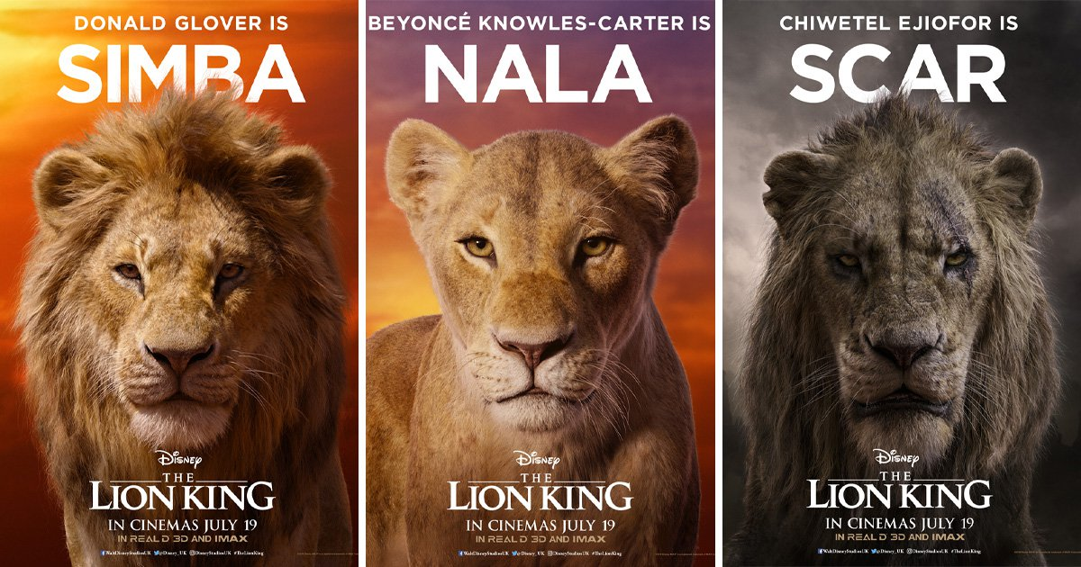 disney reveals the lion king character posters and beyonce
