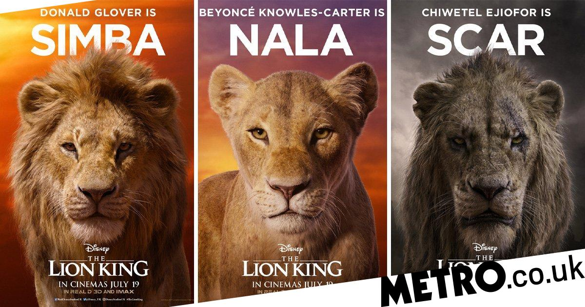 Disney Reveals The Lion King Character Posters And Beyonce S Nala Is Stunning Metro News
