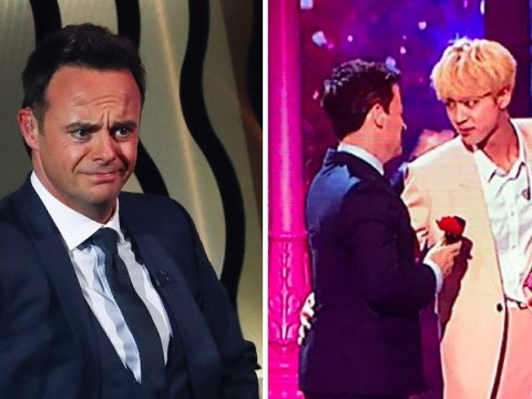 Ant McPartlin jealous as BTS' Jin gives Declan Donnelly rose after Britain's Got Talent performance