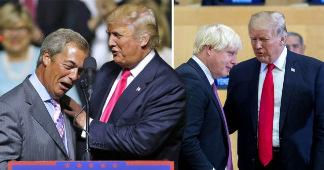 Donald Trump has praised his 'friends' Nigel Farage and Boris Johnson ahead of his state visit to the UK next week