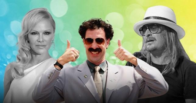 Pamela Anderson, Borat and Kid Rock
