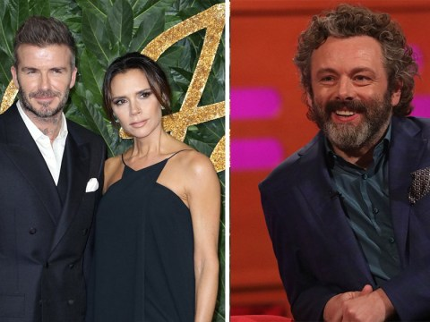 David and Victoria Beckham thought Good Omens star Michael Sheen was a 'tramp'