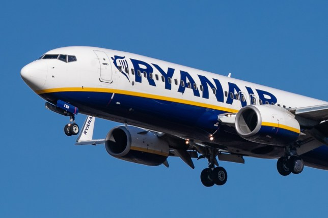 A Ryanair Boeing 737-800 airplane, specifically Boeing 737-8AS(WL) with registration EI-FEG landing and taxiing in Eindhoven International Airport EIN / EHEH in The Netherlands during a nice day. Ryanair is a budget low cost airline carrier operating in Europe and nearby destinations. using only Boeing aircraft. (Photo by Nicolas Economou/NurPhoto via Getty Images)
