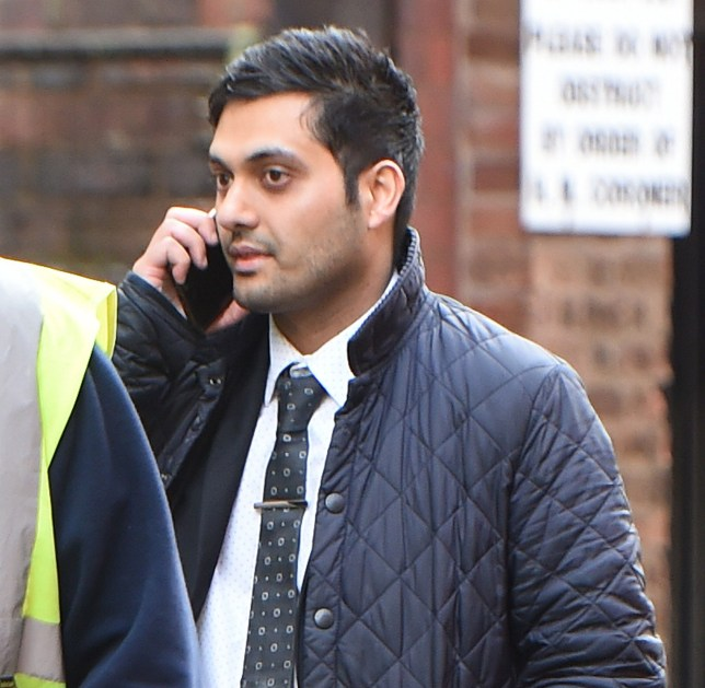 """A pharmacist allegedly slipped a laxative into a trainee's water bottle at a Boots store to """"teach her a lesson"""", a court was told. Shahan Mir, 34, denies a charge of causing a noxious thing to be taken with intent to annoy. Caption: Shahan Mir, 34, of Colebourne Road in Kings Heath, Birmingham, pictured outside Birmingham Crown Court where he denies one charge of causing a noxious thing to be taken with intent to annoy"""