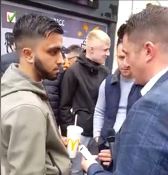 Tommy Robinson was campaigning on the streets of Warrington today (Picture: Facebook)