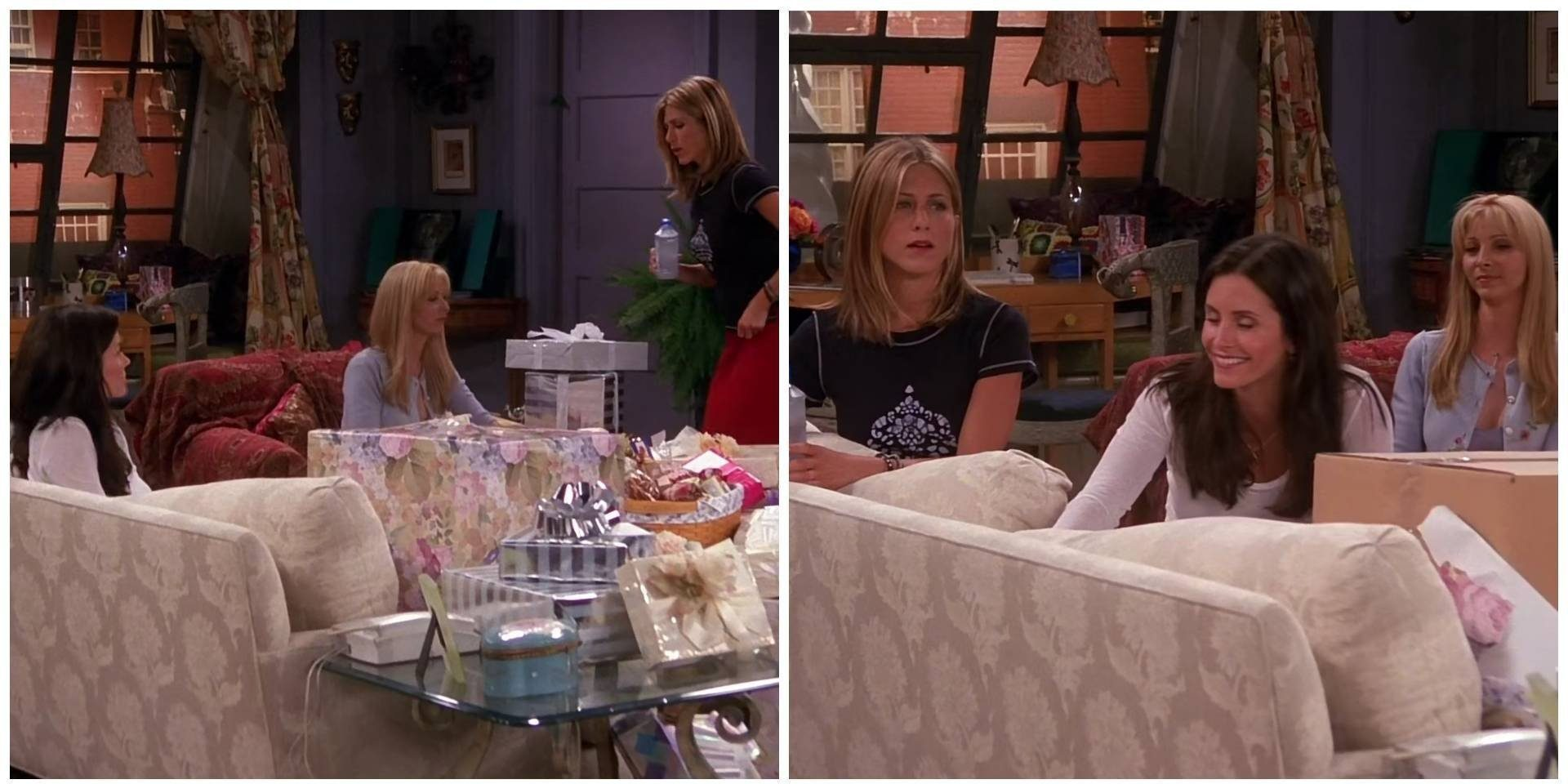Friends fans notice Monica's magic present wrapping and unwrapping itself in another epic gaffe