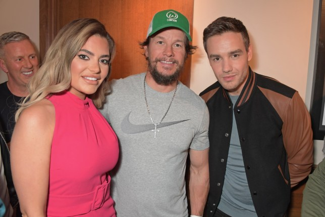 Megan Barton Hanson, Mark Wahlberg and Liam Payne attend the launch of Wahlburgers UK