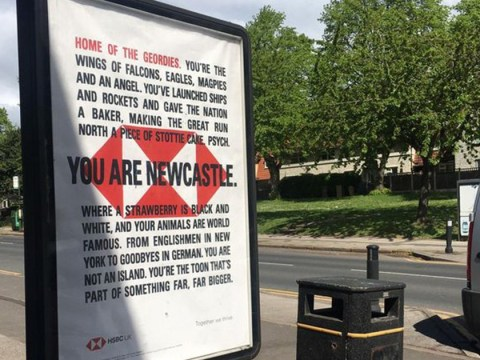 'You are Newcastle' HSBC advert appears in Nottingham