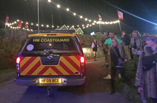EXCLUSIVE: *??250 set fee* Three men injured falling down 150ft sheer cliff face 'trying to get into Masked Ball' A major air sea rescue operation was launched after three men fell 30ft down a 150ft high sheer cliff face at The Masked Ball in Porthleven. The three were airlifted to hospital in Plymouth and one has suspected serious injuries. HM Coastguard at Falmouth has confirmed that one of the three rang at shortly after midnight asking for help and said they had fallen 30ft. A rescue operation involving three coastguard rescue teams, a helicopter, lifeboat, police and ambulance went to their aid. Pictured: Ref: SPL5086223 050519 EXCLUSIVE Picture by: @CameraFirm / SplashNews.com *??250 set fee* Splash News and Pictures Los Angeles: 310-821-2666 New York: 212-619-2666 London: 0207 644 7656 Milan: 02 4399 8577 photodesk@splashnews.com World Rights