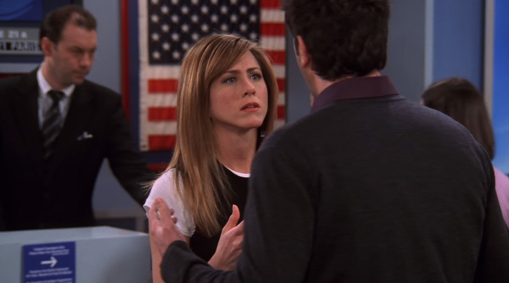 Ross was hellbent on ruining Rachel's career on Friends – she should have stayed on the plane