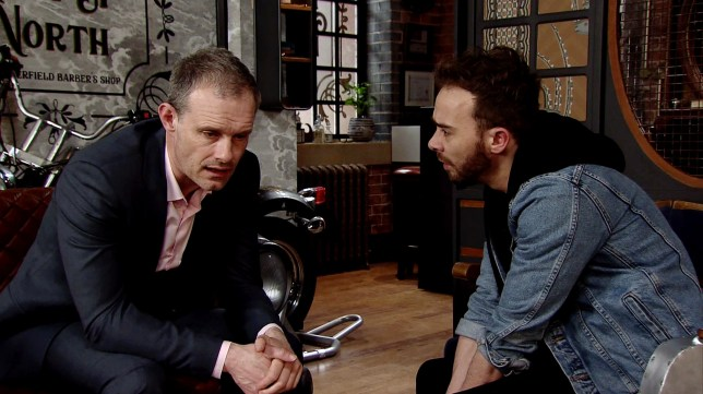 Nick Tilsley (Ben Price) tells David Platt (Jack P Shepherd) to keep Natalie sweet