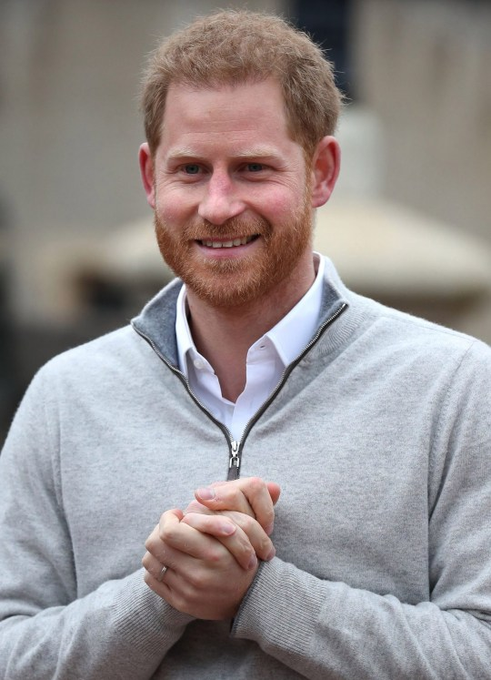 "Britain's Prince Harry, Duke of Sussex, speaks to members of the media at Windsor Castle in Windsor, west of London on May 6, 2019, following the announcement that his wifw, Britain's Meghan, Duchess of Sussex has given birth to a son. - Meghan Markle, the Duchess of Sussex, gave birth on Monday to a ""very healthy"" boy, Prince Harry announced. ""We're delighted to announce that Meghan and myself had a baby boy early this morning -- a very healthy boy,"" a beaming Prince Harry said. (Photo by Steve Parsons / POOL / AFP)STEVE PARSONS/AFP/Getty Images"