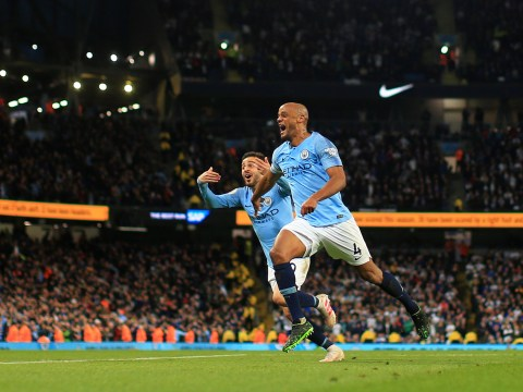 Vincent Kompany screamer breaks Leicester resistance as Manchester City close in on Premier League title