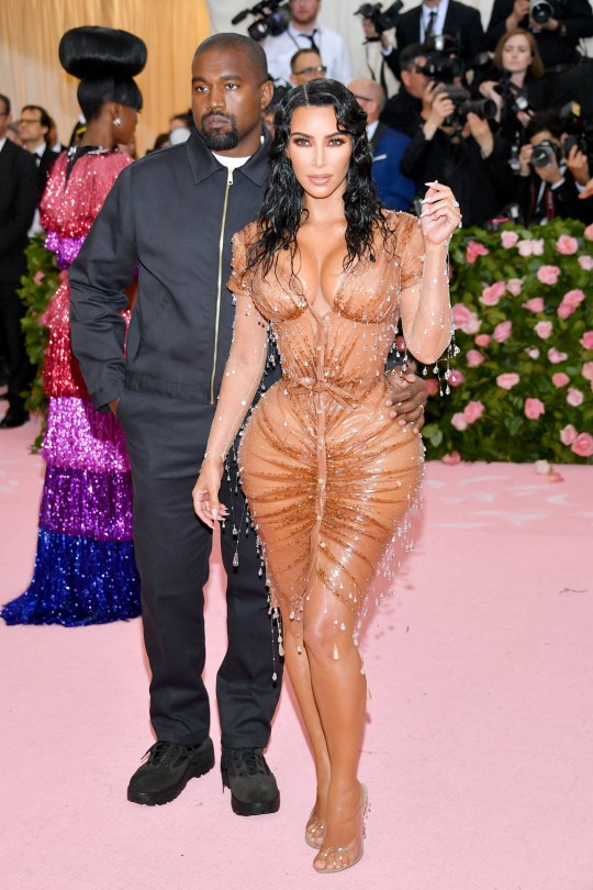 c9f954c670e Kanye West Kim Kardashian thierry mugler dress corset training 2019 Met  Gala camp metropolitan museum of
