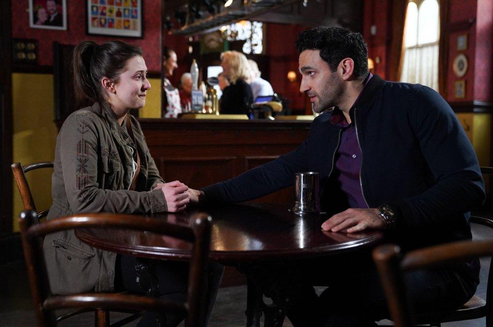 Bex Fowler (Jasmine Armfield) apologises to Kush Kazemi (Davood Ghadami)