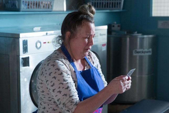 Karen Taylor (Lorraine Stanley) struggles over what's happened