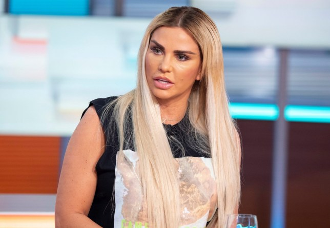 ") Katie Price 'Good Morning Britain' TV show, London, UK - 08 May 2019 KATIE PRICE: MY MUM BEGGED NOT TO HAVE MORE SURGERY After undergoing yet more surgery last week in Turkey, which many have said has left her looking like the ""Bride of Wildenstein"", Katie Price joins us for her first interview. And although she herself doesn't regret the procedures, Katie did compare her new look to ""looking like an alien"" and has also been warned by surgery experts to stop before it's too late. We have a list of procedures which shows she's had at least 16 since 1998. DESK: Katie Price."