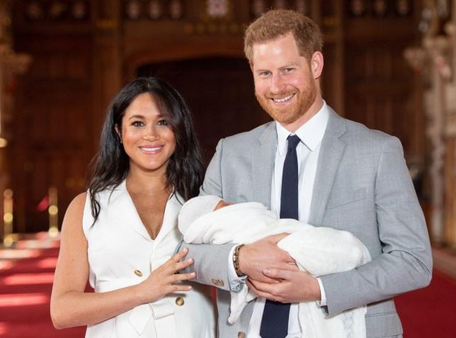 Prince Harry, Meghan Markle and ARchie Harrison Mountbatten Windsor