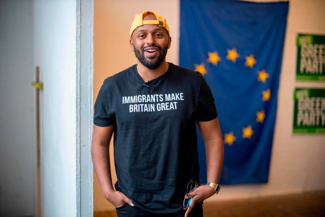 Green Party MEP candidate and former Sheffield Lord Mayor Magid Magid poses for a picture before the launch of the Green Party's European election campaign in central London on May 8, 2019. (Photo by Tolga Akmen / various sources / AFP)TOLGA AKMEN/AFP/Getty Images