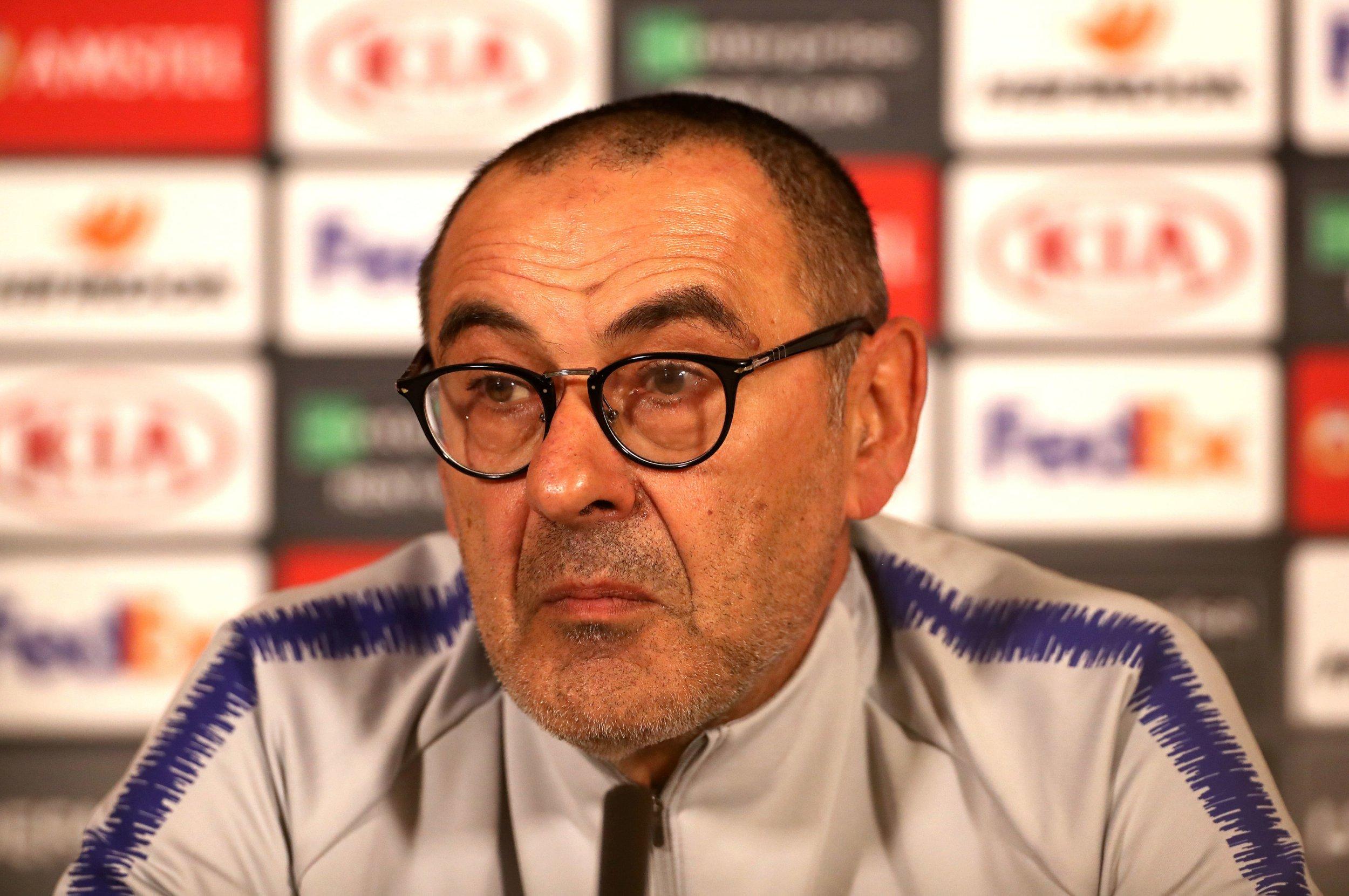 Maurizio Sarri raises fears over Chelsea fatigue ahead of Europa League final against Arsenal