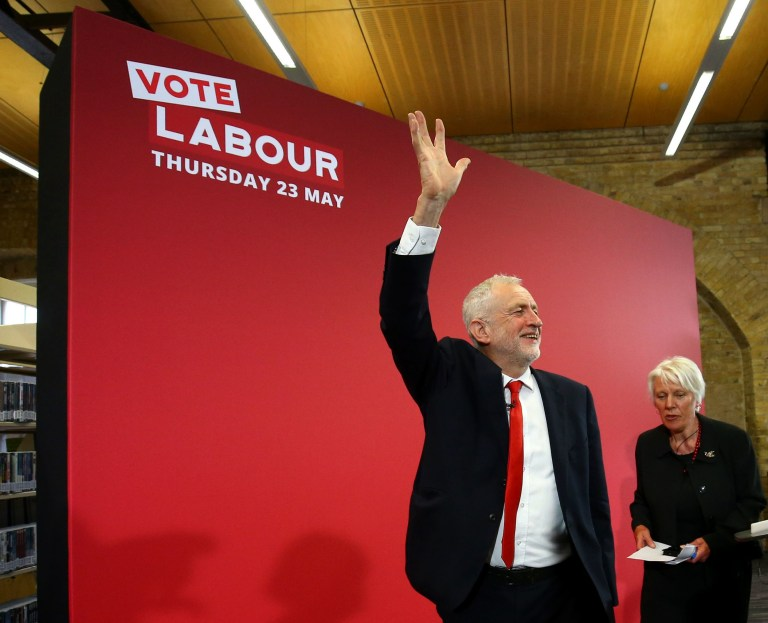 Labour Party leader Jeremy Corbyn after launching his party's European election campaign at the Drill Hall Library at the University of Kent in Chatham. PRESS ASSOCIATION Photo. Picture date: Thursday May 9, 2019. See PA story POLITICS Labour. Photo credit should read: Gareth Fuller/PA Wire