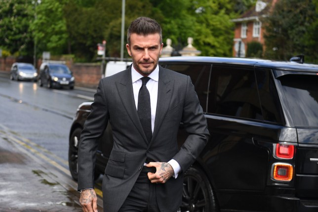 Football star David Beckham arriving at Bromley Magistrates Court in south east London for a hearing after he was spotted using his mobile phone while driving his Bentley in London's West End. PRESS ASSOCIATION Photo. Picture date: Thursday May 9, 2019. The magistrate has the power to impose six penalty points and a ??200 fine for the charge of using a mobile while driving. Scotland Yard previously said the father-of-four had pleaded guilty by post. See PA story COURTS Beckham . Photo credit should read: Victoria Jones/PA Wire