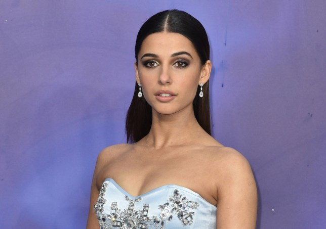 Naomi Scott at  the Aladdin UK premiere
