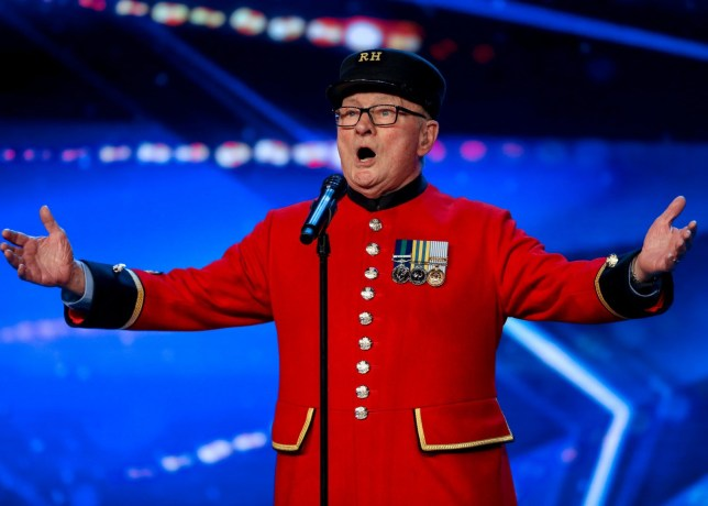 STRICT EMBARGO - NO USE BEFORE 12:00PM GMT (MIDDAY) SATURDAY 11 MAY 2019 - Editorial use only. No book publishing. Mandatory Credit: Photo by Dymond/Thames/Syco/REX (10234172y) Colin Thackery, 88 years old. 'Britain's Got Talent' TV Show, Series 13, Episode 6, UK - 11 May 2019